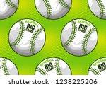 baseball seamless pattern ... | Shutterstock .eps vector #1238225206