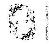 floral plant pattern frame  ... | Shutterstock .eps vector #1238227150