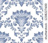 vector damask seamless pattern... | Shutterstock .eps vector #1238227600