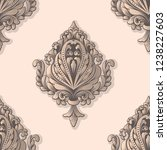 vector damask seamless pattern... | Shutterstock .eps vector #1238227603