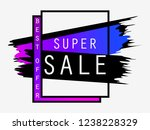 super sale. background with ink ... | Shutterstock .eps vector #1238228329