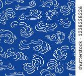 blue japan inspired vector... | Shutterstock .eps vector #1238238226