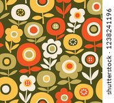 seamless vector pattern with... | Shutterstock .eps vector #1238241196