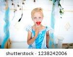 snow maiden princess girl ... | Shutterstock . vector #1238242006