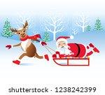 christmas vector illustration.... | Shutterstock .eps vector #1238242399