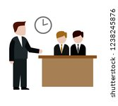business  meeting flat icon on... | Shutterstock .eps vector #1238245876