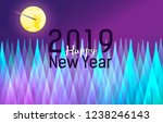 new year greeting poster with... | Shutterstock .eps vector #1238246143