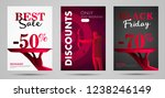 discounts posters stylized ... | Shutterstock .eps vector #1238246149