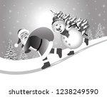 christmas vector illustration.... | Shutterstock .eps vector #1238249590