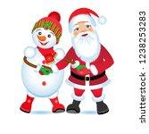 christmas vector illustration.  ... | Shutterstock .eps vector #1238253283