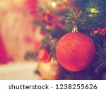 close up christmas tree with... | Shutterstock . vector #1238255626