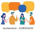 vector illustration  social... | Shutterstock .eps vector #1238256220