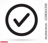 tick vector icon | Shutterstock .eps vector #1238261530
