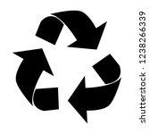recycle icons vector...   Shutterstock .eps vector #1238266339