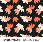 cut shapes tropical flowers and ... | Shutterstock .eps vector #1238271160