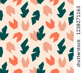tropical pattern with flowers... | Shutterstock .eps vector #1238271163
