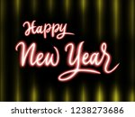 happy new year 2019 handwriting ... | Shutterstock . vector #1238273686