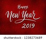 happy new year 2019 handwriting ... | Shutterstock . vector #1238273689
