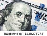 close up of new hundred dollar... | Shutterstock . vector #1238275273