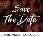 save the date handwriting... | Shutterstock . vector #1238277673
