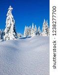 pristine winter landscape  fir...   Shutterstock . vector #1238277700