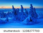winter sunrise on mount brocken ...   Shutterstock . vector #1238277703