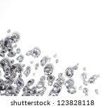brilliant diamond scattered  on ... | Shutterstock . vector #123828118