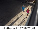 couple making fitness and... | Shutterstock . vector #1238296123
