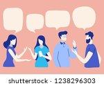 vector illustration  social... | Shutterstock .eps vector #1238296303
