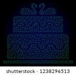 mesh marriage cake polygonal... | Shutterstock .eps vector #1238296513