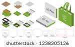 box packaging die cut template... | Shutterstock .eps vector #1238305126