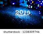 2019 happy new year wood number ... | Shutterstock . vector #1238309746