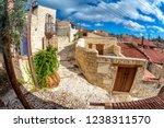 empty street under sunny blue... | Shutterstock . vector #1238311570