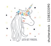magical unicorn. t shirt...   Shutterstock .eps vector #1238323390