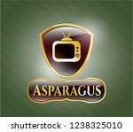 gold emblem or badge with old... | Shutterstock .eps vector #1238325010