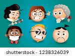 various funny sphere faces ...