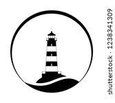 lighthouse symbol. logo design. ...   Shutterstock .eps vector #1238341309