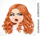 beautiful angered cartoon... | Shutterstock .eps vector #1238342293