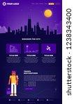 chicago city webpage design... | Shutterstock .eps vector #1238343400