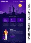new york city webpage design... | Shutterstock .eps vector #1238343403
