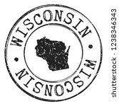wisconsin silhouette postal... | Shutterstock .eps vector #1238346343