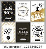 set of christmas and new year... | Shutterstock .eps vector #1238348239