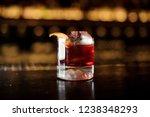 elegant glass of tasty fresh... | Shutterstock . vector #1238348293