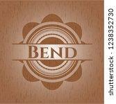 bend wooden emblem. vintage.   Shutterstock .eps vector #1238352730