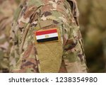 egypt flag on soldiers arm ... | Shutterstock . vector #1238354980