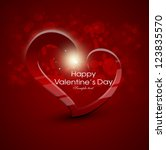 card for valentine day with... | Shutterstock .eps vector #123835570