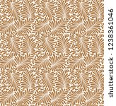 seamless plants leaves pattern  ... | Shutterstock .eps vector #1238361046