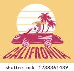 california. vector hand drawn...   Shutterstock .eps vector #1238361439