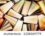 book pile literature hardback... | Shutterstock . vector #1238369779