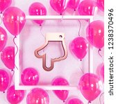 realistic fuchsia balloons with ... | Shutterstock . vector #1238370496